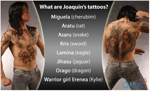 Joaquin Bordado's powerful tattoos originated from the land of the witches